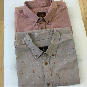 Prana organic cotton short sleeve button down